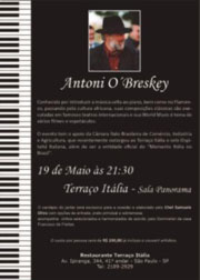 Terra�o It�lia apresenta Show do M�sico Internacional Antoni O'Breskey